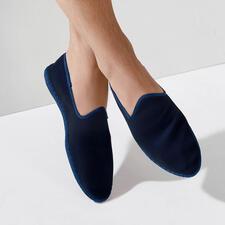 Herren-Samt-Slipper - Der handgenähte Samt-Slipper made in Italy: Elegant. Bequem. Und doch so schwer zu finden.