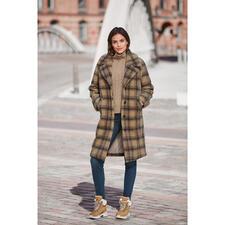 molliolli Teddy-Karo-Mantel - Wintermantel-Favorit 2020/2021: der Teddy-Karo-Mantel vom koreanischen Toplabel für bestes Fake Fur  – molliolli ECO-FUR.