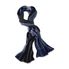 Doubleface-Retro-Schal - Klassisches Design, neue Colorierung. Eine Seite Seide, eine Seite Wolle – ideal bei jeder Witterung.
