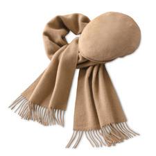 Kamelhaar-Schal oder -Mütze - Wunderbar weich und wärmend. Ideal auch für empfindliche Haut.