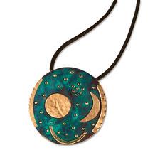 Nebra Scheibe - Das weltälteste Abbild des Kosmos. Detailgetreu wie das alte Original – aus patinierter Bronze, vergoldet.