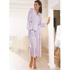 Novila Luftiger Streifen-Pyjama - Der Streifen-Pyjama aus hauchzartem Voile.