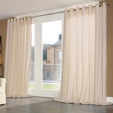 Vorhang Silent, Beige - je 1 Stück - Samtweiches Spezialgewebe dämpft störenden Schall, verbessert die Raumakustik – und Ihr Wohlbefinden.
