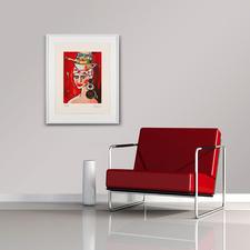 Die eindrucksvolle Farbenpracht der Radierung bereichert jeden Wohnraum.