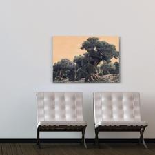 """""""Der Olivenbaum"""" ist in den Grössen 110 x 75 cm ..."""