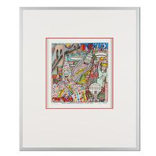James Rizzi – New York City – Highway to the Sky 2006 - Rarität – eine der letzten handsignierten 3D-Papierskulpturen des verstorbenen James Rizzi. 33 von 350 Exemplaren – exklusiv bei Pro-Idee. Maße: gerahmt 51,5 x 61,5 cm