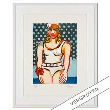 Elvira Bach – Germany's Next Topmodel 2010 - Unverkennbar Elvira Bach: Eines ihrer weltberühmten Frauenportraits als Radierung. Die letzten 20 Exemplare der 99er-Edition.