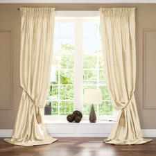 """Vorhang """"Cascade"""", 1 Vorhang - Aus kostbarer Doupionseide. Aufwändig gefüttert und in bester Atelier-Verarbeitung in Deutschland gefertigt."""