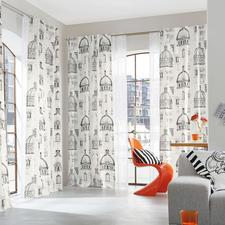 """Vorhang """"Capitol"""", 1 Vorhang - Renaissance trifft Moderne. Und Schwarz trifft Weiß."""