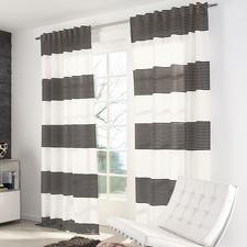"""Vorhang """"Angie"""", 1 Vorhang - Neu aus der JAB Anstoetz-Kollektion: Maritime Streifen auf ganz moderne Art."""