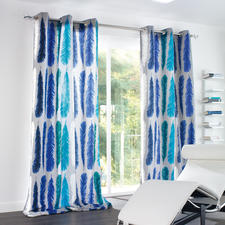 Vorhang Feather - 1 Stück - Blockstreifen auf leichte Art.