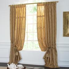 "Vorhang ""Barocco"", 1 Vorhang - Barocke Damast-Ornamente stilvoll Ton in Ton gewebt."