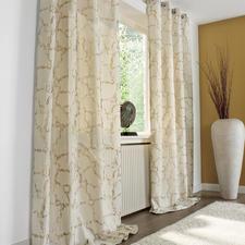 """Vorhang """"Boulevard"""", 1 Vorhang - Trend-Duo Creme & Gold: Modisches Makeover für Ihre Fenster."""