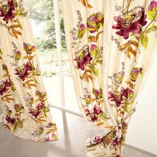 """Vorhang """"Passion Flower"""", 1 Vorhang - Unter den floral dessinierten Vorhängen ist dies einer der  exquisitesten."""