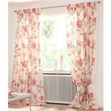 Vorhang Magnolia, Creme/Rosa - 1 Stück - Frisch vom Münchner Stoff Frühling.  Und Publikumsmagnet im Showroom: Magnolia.