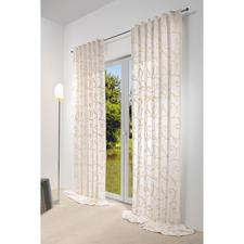 Vorhang Impression - 1 Stück - Dreidimensionale Ornamente aus plastischer Dochtstickerei veredeln diesen Vorhang.
