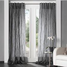 """Vorhang """"Sonor"""", 1 Vorhang - Modisches Highlight unter den Inbetweens: Der Schal mit permanent plissierten Falten."""