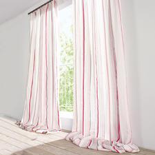 """Vorhang """"Peyron"""", 1 Vorhang - Perfekt abgestimmt: Der Streifen zum Schmetterling."""