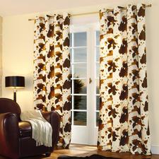 """Vorhang """"Cow"""", 1 Vorhang - Nur die besten Wirkfelle sind fein genug für einen weich fallenden Vorhang."""