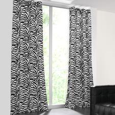 Vorhang Zebra - 1 Stück - Nur die besten Wirkfelle sind fein genug für einen weich fallenden Vorhang.