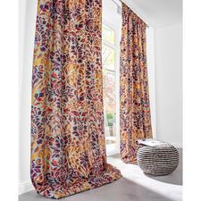 """Vorhang """"Eden"""", 1 Vorhang - Aufwändig bestickter Baumwoll-Seiden-Taft aus der neuen """"Cool Colours""""-Kollektion von Sahco."""