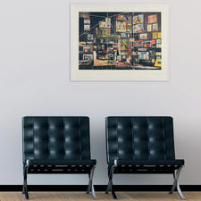 Ein außergewöhnliches Werk, das Ihrem Raum mehr Tiefe verleiht.