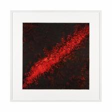 """Flammen der Leidenschaft II"", gerahmt 83 x 83 cm."