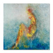 Benno Werth – Die Sitzende - Seit 2011 im Stadtmuseum Riesa – jetzt als handübermalte Edition bei Ihnen zu Hause. Prof. Benno Werth editiert erstmals einen Akt. 20 Exemplare. Exklusiv für Pro-Idee. Maße: 100 x 100 cm