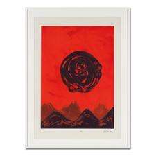 """""""Naturstein"""", gerahmt 93 x 125 cm."""
