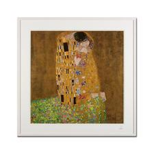 """Gustav Klimt – Der Kuss (1908 / 1909) - Gustav Klimt """"Der Kuss"""" (1908 / 1909) als High-End Prints™. Endlich eine Qualität, die dem großen Meisterwerk tatsächlich gerecht wird. Maße: gerahmt 81,5 x 81,5 cm"""