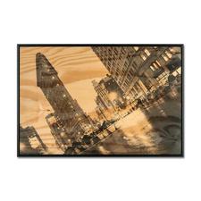 Georgia Ortner – New York Flatiron - Georgia Ortners erste Edition auf 6 mm dickem Fichtenholz – schwebend gerahmt. 100 Exemplare. Exklusiv bei Pro-Idee.