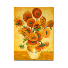 Zhao Xiaoyong malt Vincent van Gogh – 15 Sonnenblumen in einer Vase - Vincent van Goghs Sonnenblumen: Die perfekte Kunstkopie – 100 % von Hand in Öl gemalt.