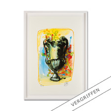 Markus Lüpertz – Vase 3 - Keine Lüpertz-Edition ist wie diese. Einer seiner seltenen farbenfrohen Siebdrucke. Gering limitiert mit 40 Exemplaren.