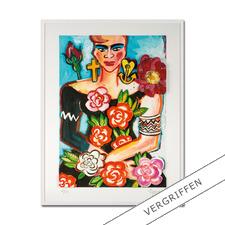 "Elvira Bach: ""Magnolia"" - Unverkennbar Elvira Bach: Eines ihrer weltberühmten Frauenportraits – erstmalig als 3D-Edition. 30 Exemplare."