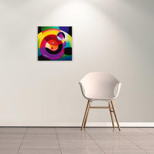 Ein Eyecatcher an Ihrer Wand: abstrahierte Figuren in extremer Leuchtkraft.