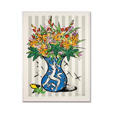 Stefan Szczesny – Flowers on Stripes - Stefan Szczesnys großformatigste Grafik-Edition. Im Format 120 x 160 cm. 60 Exemplare.