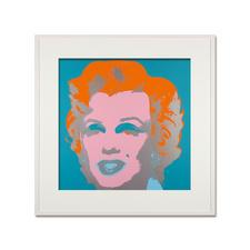 Andy Warhol – Marilyn hellblau - Sunday B. Morning Siebdruck auf 1,52 mm starkem Museumskarton. Maße: gerahmt 112 x 112 cm
