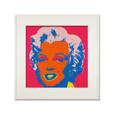Andy Warhol – Marilyn rot - Sunday B. Morning Siebdruck auf 1,52 mm starkem Museumskarton. Maße: gerahmt 112 x 112 cm