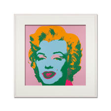 Andy Warhol – Marilyn rosa - Sunday B. Morning Siebdruck auf 1,52 mm starkem Museumskarton. Maße: gerahmt 112 x 112 cm