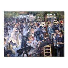 "Zhong Lirong malt Renoir: ""Bal du Moulin de la Galette"" - Renoirs ""Bal du Moulin de la Galette"": Die perfekte Kunstkopie – 100 % von Hand in Öl gemalt."