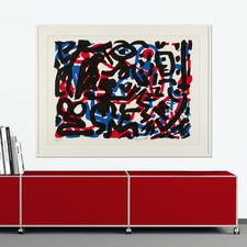 """""""Weiterarbeit"""", gerahmt 130 x 98 cm."""