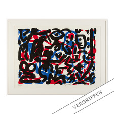 """A. R. Penck – Weiterarbeit - A. R. Penck in den wichtigsten Museen der Welt – und jetzt als limitierter Siebdruck bei Ihnen zu Hause. Die letzten 15 Exemplare der Edition """"Weiterarbeit"""" exklusiv bei Pro-Idee."""