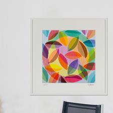 """""""Wilde Lust am Leben"""", gerahmt 98 x 98 cm."""