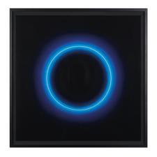 Fabrizius² – Ohne Titel – Kreis Weiß in Blau - Die vierhändige Kunstsensation.  Erste Edition der Zwillingsschwestern Fabrizius. 35 Exemplare. Maße: gerahmt 108,5 x 108,5 cm