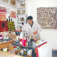 André Schweers in seinem Atelier.