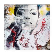 """Devin Miles – David - Der Shootingstar der deutschen """"Modern Pop-Art"""". Unikatserie aus Malerei, Siebdruck und Airbrush auf Holz. 100 % Handarbeit. Maße: 80 x 80 cm"""