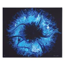 Yelizavyeta – Blue Space - Erste Edition der Künstlerin Yelizavyeta – von Hand übermalt. Faszinierende Dreidimensionalität. 40 Exemplare. Exklusiv bei Pro-Idee.