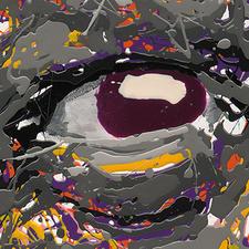 Bei seinen Orginalen tropft und schleudert STALE die Farbe auf den Untergrund und lässt so einzigartige Kunstwerke entstehen.