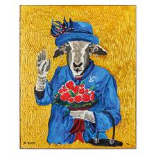 Adam Karamanlis – Golden Queen - Werke von Adam Karamanlis bei Christie´s in Düsseldorf. Und nun bei Ihnen zu Hause. Exklusive Pro-Idee-Edition – erstmals großflächig von Hand übermalt. 40 Exemplare.