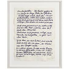 """Günther Uecker - Blatt 7 der 9-teiligen Mappe der Friedensgebote - Günther Uecker: Komposition von Präge- und Siebdruck auf handgeschöpftem Büttenpapier. """"Blatt 7 der 9-teiligen Mappe der Friedensgebote"""". 100 Exemplare."""